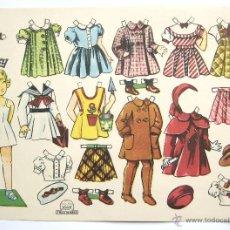 Coleccionismo Recortables: LAMINA RECORTABLES MUÑECAS EDITORIAL TRESTORRES. ROSY AÑOS 50 - 60 FLORITA. Lote 46044343
