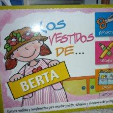 Coleccionismo Recortables: RECORTABLE LOS VESTIDOS DE BERTA. EDITORIAL COMBEL. Lote 46648814