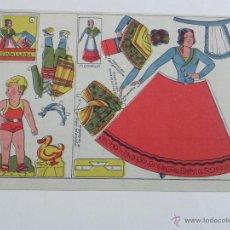 Coleccionismo Recortables: GUADALAJARA, RECORTABLES TRAJE REGIONAL NIÑO NIÑA, TAMAÑO 23,2 X 17,6 CMS.. Lote 125273552