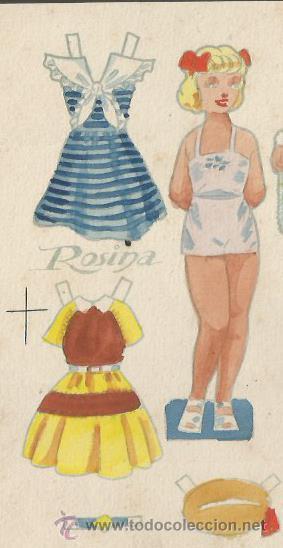 Coleccionismo Recortables: ROSINA - RECORTABLES EL NIÑO - CELMA - PROTOTIPO PINTADO ORIGINAL -17 X16 CM (V-2129) - Foto 2 - 48301894