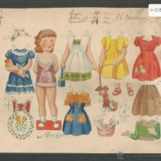 Coleccionismo Recortables: MARISA - RECORTABLES EL NIÑO - CELMA - PROTOTIPO PINTADO ORIGINAL -17 X16 CM (V-2135). Lote 48302095