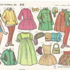 Coleccionismo Recortables: ** PA381 - LAMINA MUÑECAS RECORTABLES EVA 812 - 17,5 X 12,5 CM. AÑOS 60. Lote 55013945