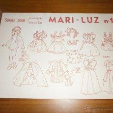 Coleccionismo Recortables: SERIES PARA ILUMINAR Y RECORTAR - MARI-LUZ Nº 1- NUEVO, A ESTRENAR!!!. Lote 48566584