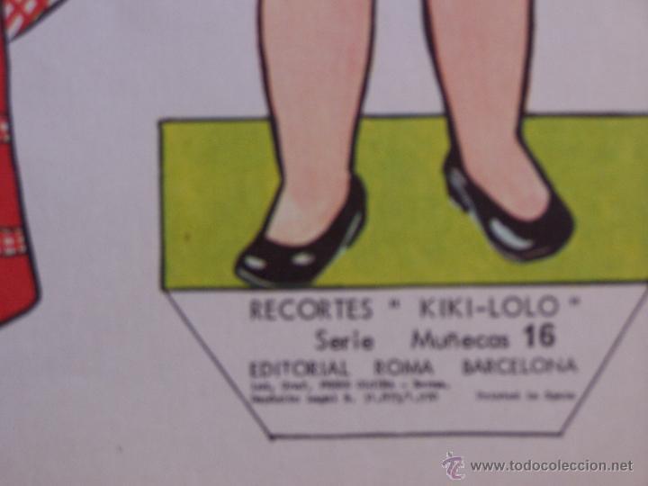 Coleccionismo Recortables: Lote de 4 Laminas recortables de muñecas, seriadas de la 13 a la 16 y fechadas 1970. D. 36 cm x 26 c - Foto 5 - 48699439