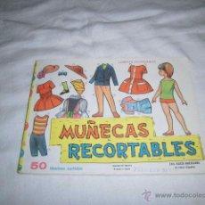 Coleccionismo Recortables: MUÑECAS RECORTABLES EDIT.VASCO AMERICANA 50 LAMINAS SURTIDAS 1ª SERIE PAPEL FINO. Lote 71741739