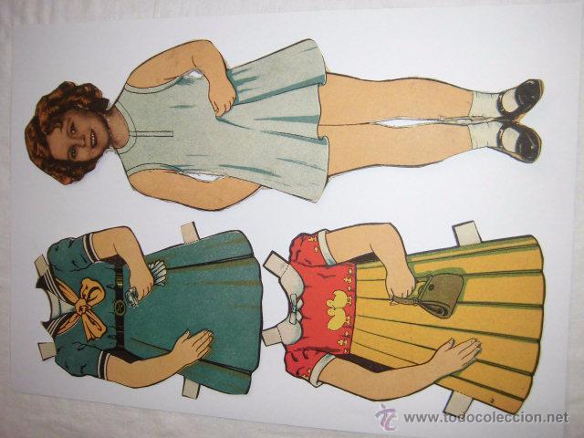 ANTIGUO RECORTABLE BABY. SHIRLEY TEMPLE AÑOS 40.MUÑECA MIDE 27 CM.MODELO 6 (Coleccionismo - Recortables - Muñecas)