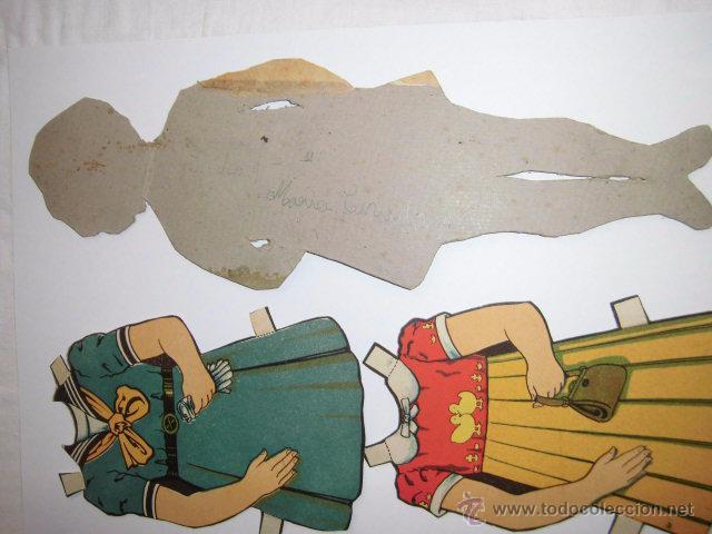 Coleccionismo Recortables: ANTIGUO RECORTABLE BABY. SHIRLEY TEMPLE AÑOS 40.MUÑECA MIDE 27 CM.MODELO 6 - Foto 2 - 49219114