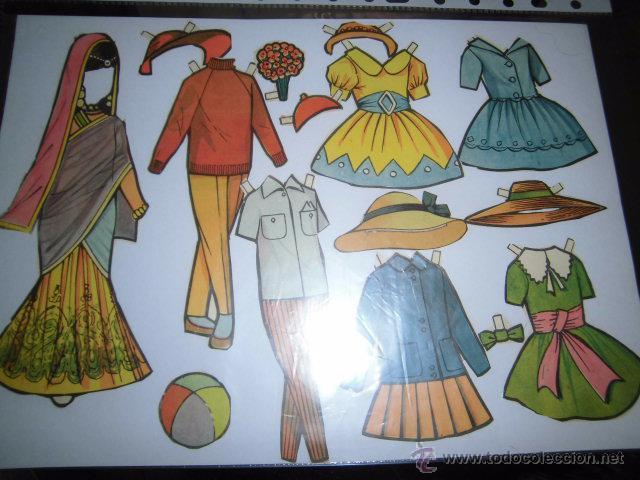 Coleccionismo Recortables: RECORTABLE SOLO VESTIDOS DESCONOZCO DE QUE MUÑECA - Foto 2 - 49258472