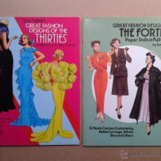 Coleccionismo Recortables: RECORTABLES MUÑECAS GREAT FASHIONS DESIGNS THIRTIES AND FORTIES PAPER DOLLS 1988. Lote 49491491