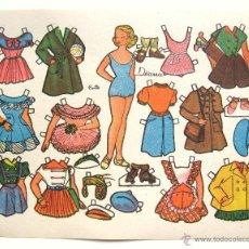 Coleccionismo Recortables: LAMINA RECORTABLES MUÑECAS MODELO DIANA DIBUJADO POR CURTO AÑOS 50. Lote 50373585