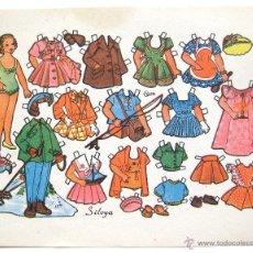 Coleccionismo Recortables: LAMINA RECORTABLES MUÑECAS MODELO SILVYA DIBUJADO POR CURTO AÑOS 50. Lote 50373596