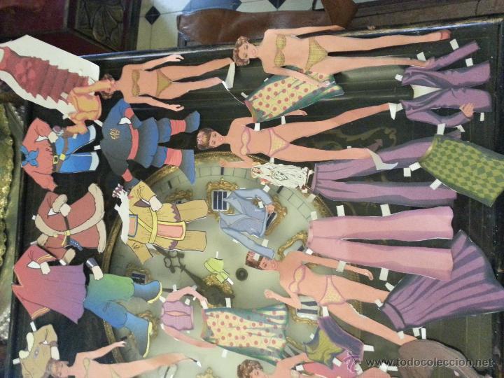 Coleccionismo Recortables: COLECCIONES DE RECORTABLES RECORTADOS DE MUÑECAS MUÑECOS,,,, GRAN LOTE - Foto 3 - 50670609
