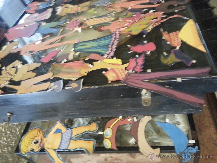 Coleccionismo Recortables: COLECCIONES DE RECORTABLES RECORTADOS DE MUÑECAS MUÑECOS,,,, GRAN LOTE - Foto 5 - 50670609