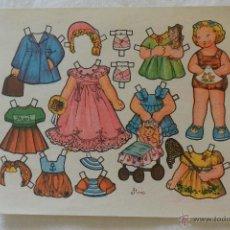 Coleccionismo Recortables: HOJA RECORTABLE NIÑAS MARI DIBUJO FLORES. Lote 51017544