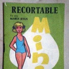 Colecionismo Recortáveis: 2 MUÑECAS RECORTABLES EVA CUADERNILLO 1979 EDITORIAL VASCO AMERICANA COLECCIÓN MINI Nº 4. Lote 51032406