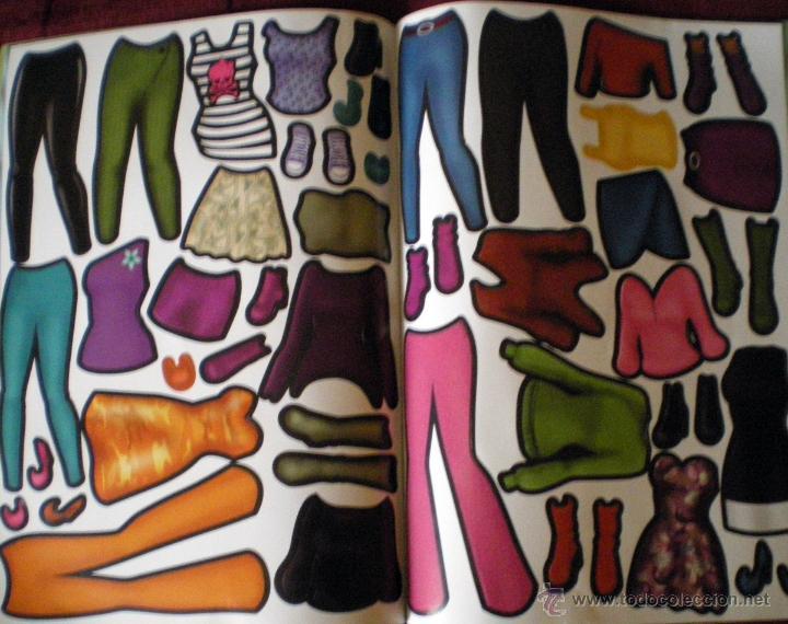 Coleccionismo Recortables: Revista Fashion Talent 32 páginas muñecas recortables-4 páginas vestidos recortados adhesivos nueva - Foto 3 - 51001519