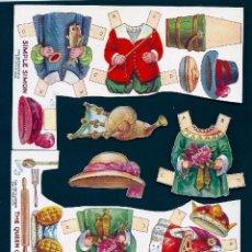 Coleccionismo Recortables: 0991H - RECORTABLES TUCKS & SONS - TROQUELADOS - VARIOS VESTIDITOS, ACCESORIOS Y COMPLEMENTOS. Lote 51320435