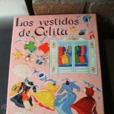Coleccionismo Recortables: LOS VESTIDOS DE CELITA 1950 CAJA CON RECORTABLE MUÑECA Y ARMARITO. Lote 51640182
