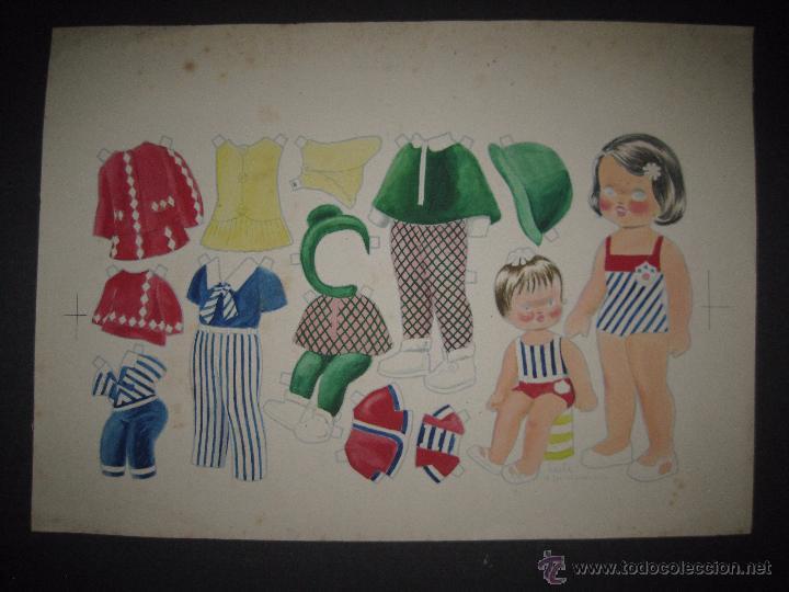Coleccionismo Recortables: LALI Y SU MUÑECA - RECORTABLES ORIGINAL A TINTA Y HOJA CON COLOREADO ORIGINAL -VER FOTOS - (V-3152) - Foto 4 - 52032767