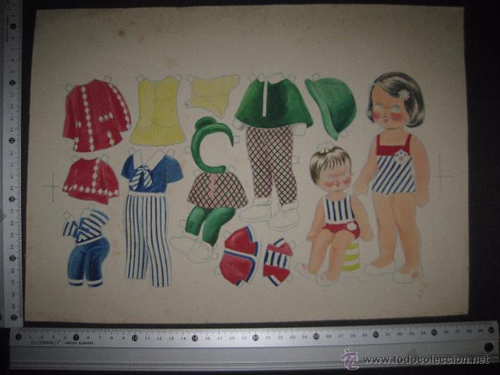 Coleccionismo Recortables: LALI Y SU MUÑECA - RECORTABLES ORIGINAL A TINTA Y HOJA CON COLOREADO ORIGINAL -VER FOTOS - (V-3152) - Foto 5 - 52032767
