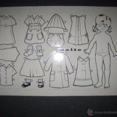 Coleccionismo Recortables: MAITE- RECORTABLES MUÑECA ORIGINAL A TINTA Y HOJA CON COLOREADO ORIGINAL -VER FOTOS - (V-3154). Lote 52032821