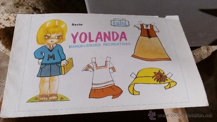 RECORTABLES DE MUÑECAS 96 LAMINAS YOLANDA MANUALIDADES RECREATIVAS EDICIONES ZULIA (Coleccionismo - Recortables - Muñecas)