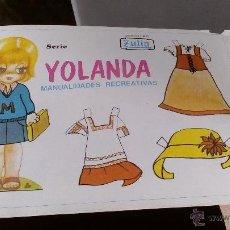 Coleccionismo Recortables: RECORTABLES DE MUÑECAS 96 LAMINAS YOLANDA MANUALIDADES RECREATIVAS EDICIONES ZULIA . Lote 53210604