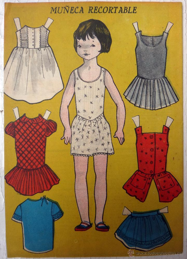 RECORTABLE MUÑECAS , REVISTA PARA NIÑAS BAZAR , 1961 , ORIGINAL (Coleccionismo - Recortables - Muñecas)