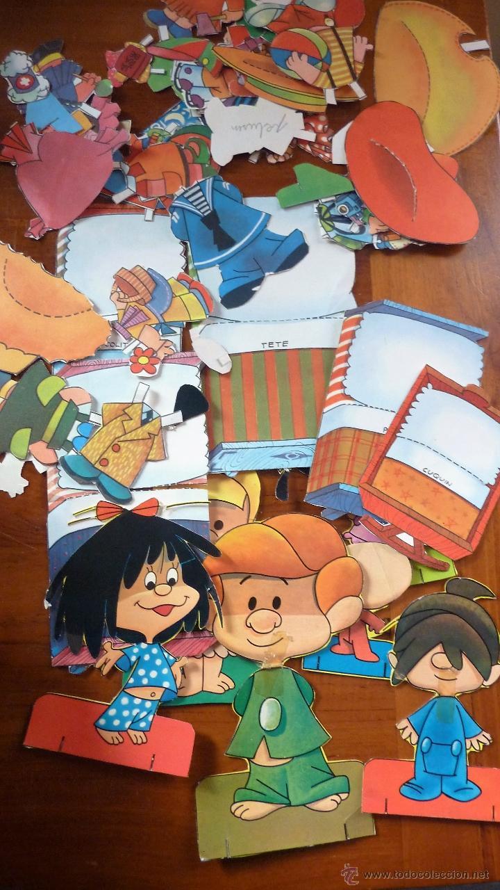 Coleccionismo Recortables: Recortable familia telerin , muñecos , vestidos accesorios , cama 1960 ver fotos - Foto 2 - 53516714