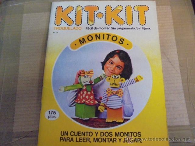 KIT KIT 24- MONITOS - 1 CUENTO / 2 MUÑECOS PARA LEER MONTAR JUGAR - SIN USAR AÑO 1980 (Coleccionismo - Recortables - Muñecas)
