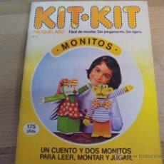 Coleccionismo Recortables: KIT KIT 24- MONITOS - 1 CUENTO / 2 MUÑECOS PARA LEER MONTAR JUGAR - SIN USAR AÑO 1980. Lote 53579883