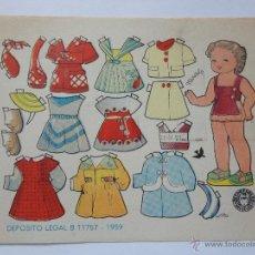 Coleccionismo Recortables: RECORTABLE MUÑECA MARISELY , EDIT.BRUGUERA ILUSTRADO POR ENRIQUETA BOMBON.. Lote 76049117