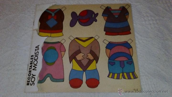 RECORTABLE SOY MODISTA DE BRUGUERA 1982. LA PORTADA ESTA RECORTADA. TIENE LAS 6 HOJITAS DE VESTIDOS (Coleccionismo - Recortables - Muñecas)