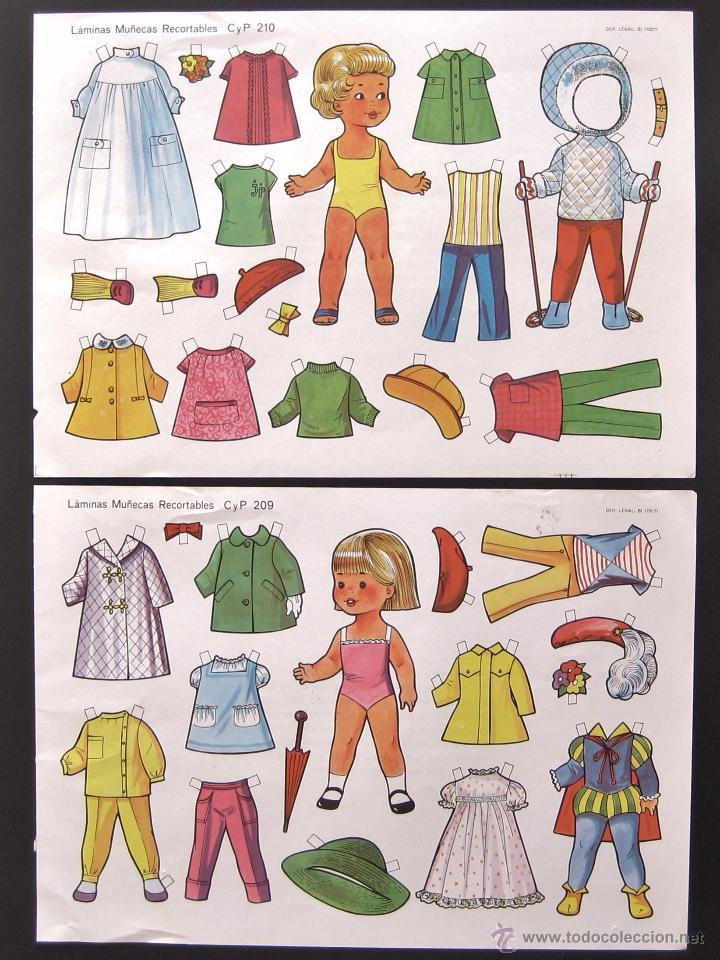 Coleccionismo Recortables: LOTE DE 10 LAMINAS RECORTABLES MUÑECAS CULTURA Y PROGRESO CYP SERIE COMPLETA Nº 201 - 210 AÑO 1971 - Foto 2 - 216563303