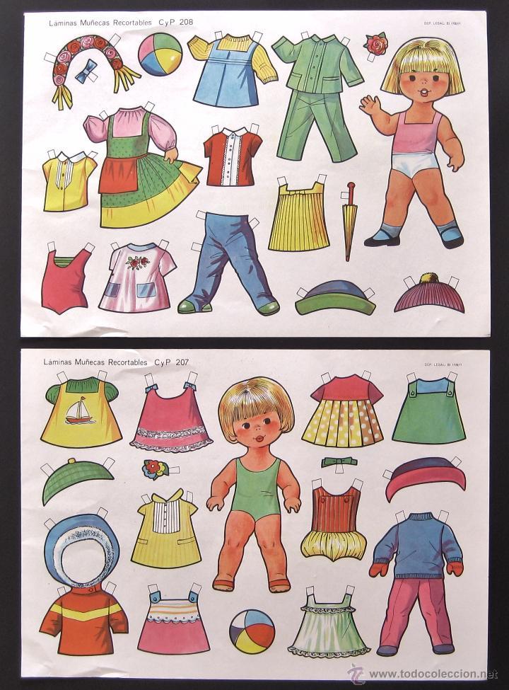 Coleccionismo Recortables: LOTE DE 10 LAMINAS RECORTABLES MUÑECAS CULTURA Y PROGRESO CYP SERIE COMPLETA Nº 201 - 210 AÑO 1971 - Foto 3 - 216563303