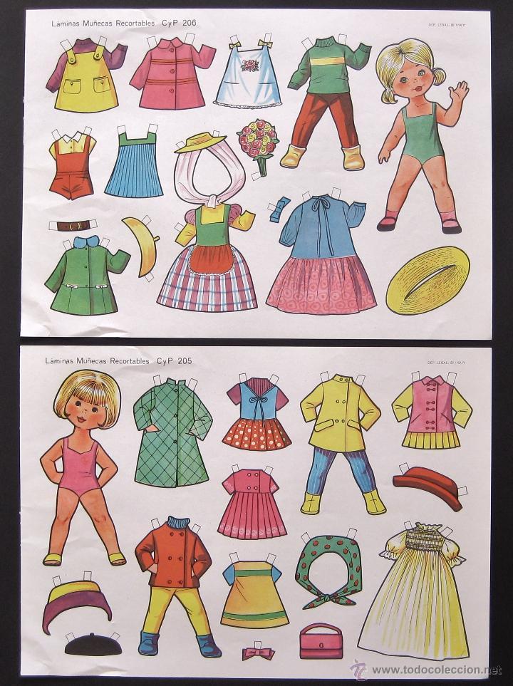 Coleccionismo Recortables: LOTE DE 10 LAMINAS RECORTABLES MUÑECAS CULTURA Y PROGRESO CYP SERIE COMPLETA Nº 201 - 210 AÑO 1971 - Foto 4 - 216563303