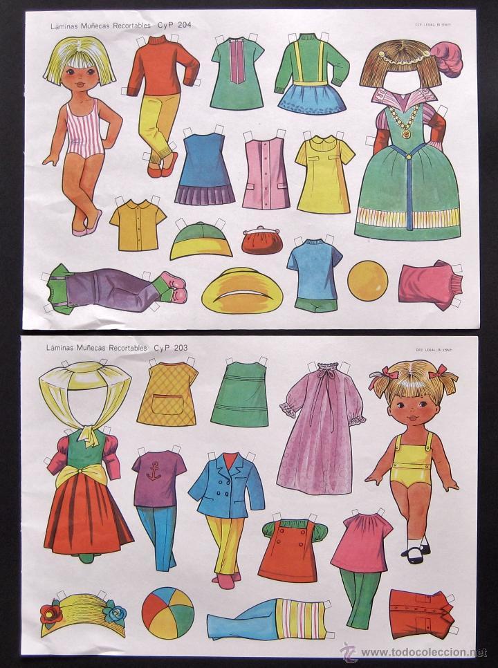 Coleccionismo Recortables: LOTE DE 10 LAMINAS RECORTABLES MUÑECAS CULTURA Y PROGRESO CYP SERIE COMPLETA Nº 201 - 210 AÑO 1971 - Foto 5 - 216563303