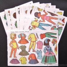 Coleccionismo Recortables: LOTE 10 LAMINAS RECORTABLES MUÑECAS EVA 1ª SERIE COMPLETA Nº 881 - 890 .1963 (TAMAÑO MEDIO - GRANDE). Lote 53726477