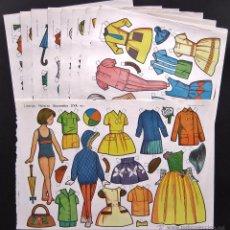 Coleccionismo Recortables: LOTE DE 10 LAMINAS RECORTABLES MUÑECAS EVA 2ª SERIE COMPLETA Nº 961 - 970 AÑO 1964 (TAMAÑO GRANDE). Lote 55121968