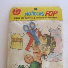 Coleccionismo Recortables: MUÑECA POP , BOLSA CON MUÑECA Y VESTIDOS RECORTABLES, 18 MODELOS, EDITORIAL ROMA. CC. Lote 53878052