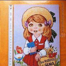 Coleccionismo Recortables: RECORTABLE FHER AÑO 1985 LOS VESTIDOS DE GEMA. PERFECTO ESTADO.. Lote 154639681