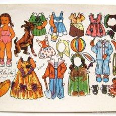 Coleccionismo Recortables: LAMINA RECORTABLES MUÑECAS DANIEL BAS MODELO PILUCHI AÑOS 50. Lote 55124989