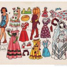 Coleccionismo Recortables: LAMINA RECORTABLES MUÑECAS DANIEL BAS MODELO MAITE AÑOS 50. Lote 55276798