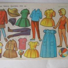 Coleccionismo Recortables: LÁMINA MUÑECAS EVA ( 34 X 24 CM ) Nº 893 , AÑO 1964. Lote 55798520