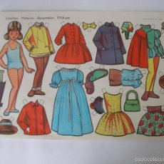 Coleccionismo Recortables: LÁMINA MUÑECAS EVA ( 34 X 24 CM ) Nº 892 , AÑO 1964. Lote 55798531