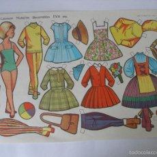 Coleccionismo Recortables: LÁMINA MUÑECAS EVA ( 34 X 24 CM ) Nº 894 , AÑO 1964. Lote 55798557