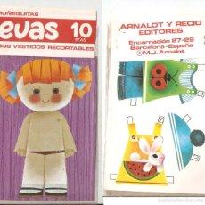 Coleccionismo Recortables: MUÑECA EVAS, CON 2 VESTIDOS. 10 X 18 CMS. . VELL I BELL. Lote 56509343