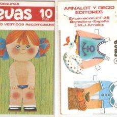 Coleccionismo Recortables: MUÑECA EVAS, CON 2 VESTIDOS. 10 X 18 CMS. . VELL I BELL. Lote 56509321