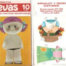 Coleccionismo Recortables: MUÑECA EVAS, CON 2 VESTIDOS. 10 X 18 CMS. . VELL I BELL. Lote 56509417