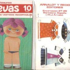 Coleccionismo Recortables: MUÑECA EVAS, CON 2 VESTIDOS. 10 X 18 CMS. . VELL I BELL. Lote 56509435